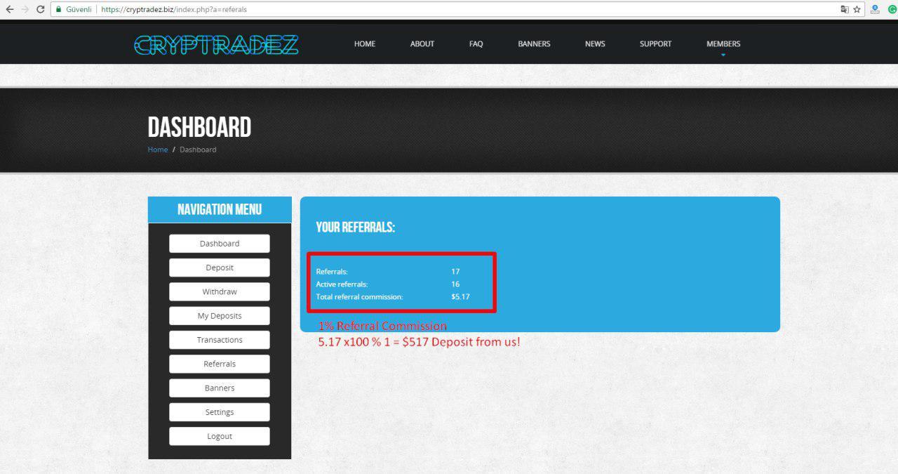 CRYPTRADEZ FINANCE LTD screenshot